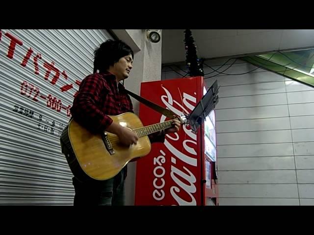 長渕剛さん 交差点 コピー 大阪路上ライブ
